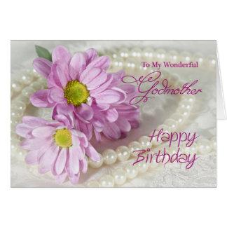 Para una madrina, una tarjeta de cumpleaños con