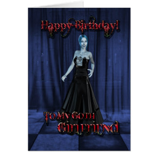 Para una novia del gótico una tarjeta de cumpleañ