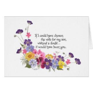 Para una nuera tarjeta de felicitación