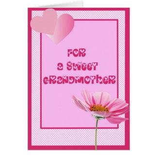 Para una tarjeta de felicitación dulce de la abuel