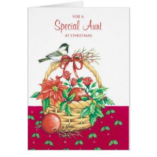Para una tía especial tarjeta de felicitación