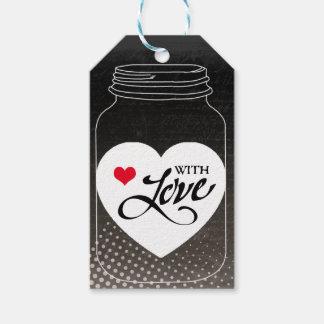 Para usted con amor etiquetas para regalos