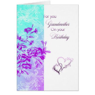 Para usted cumpleaños de la abuela tarjeta de felicitación