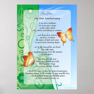 Para usted, en nuestro aniversario póster