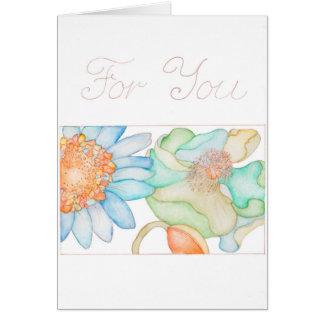 Para usted tarjeta de felicitación