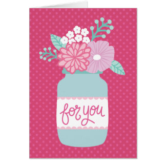Para usted tarjeta de la flor