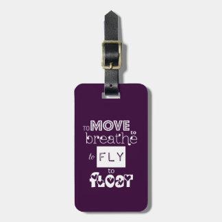Para volar para flotar cita etiqueta para maletas