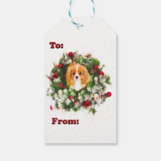 Para: Y de: Rey arrogante Charles Wreath Gift Tags Etiquetas Para Regalos