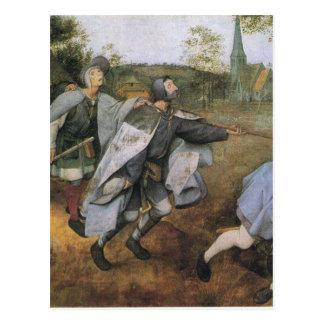 Parábola de las persianas de Pieter Bruegel la Postal