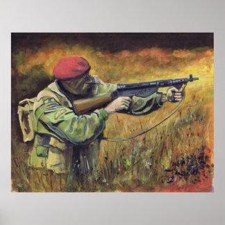 Paracaidista británico WW2 Impresiones