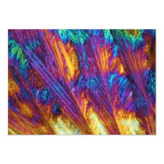 Paracetamol debajo del microscopio invitación 12,7 x 17,8 cm