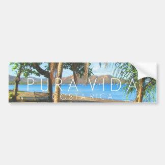 Parachoque de Playas del Coco Pura Vida Costa Rica Pegatina Para Coche