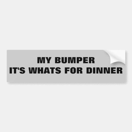 Parachoque es cuál está para la cena pegatina para coche