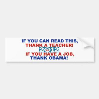 Parachoque sticker.jpg de Obama 2012 Pegatina Para Coche