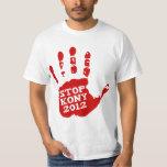 Parada 2012 de Kony Handprint José Kony Camiseta