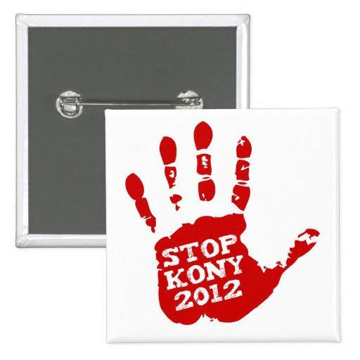 Parada 2012 de Kony Handprint José Kony Pin
