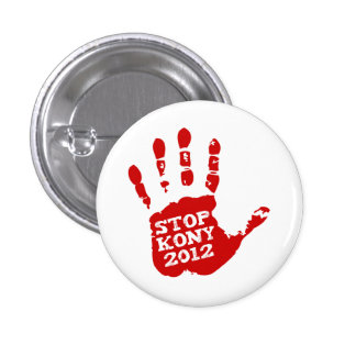 Parada 2012 de Kony Handprint José Kony Pins
