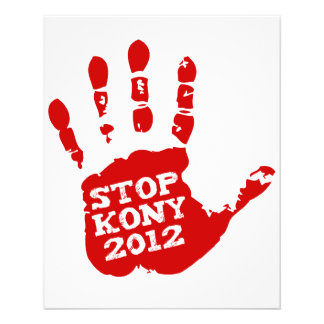 Parada 2012 de Kony Handprint José Kony Folleto 11,4 X 14,2 Cm