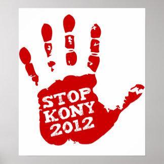 Parada 2012 de Kony Handprint José Kony Póster