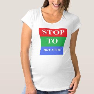 Parada-A-Respire la cáscara de huevo de maternidad Camiseta De Premamá