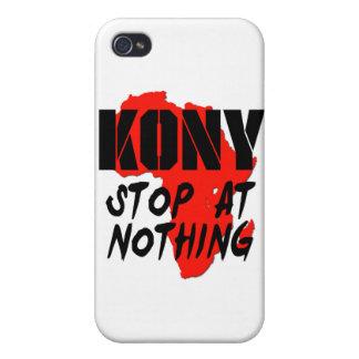 Parada de Kony en nada iPhone 4 Protectores