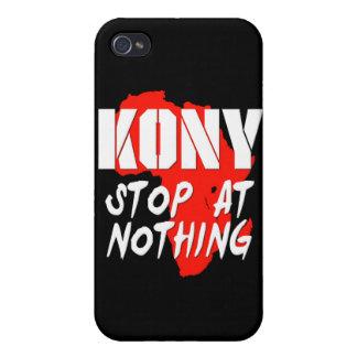 Parada de Kony en nada iPhone 4 Carcasas
