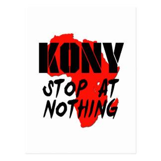 Parada de Kony en nada Postal
