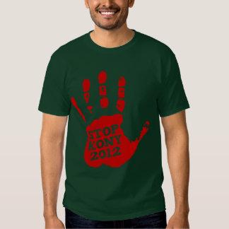 Parada José Kony de Handprint del rojo de Kony Camisetas