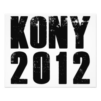 Parada José Kony de Kony 2012 Folleto 11,4 X 14,2 Cm