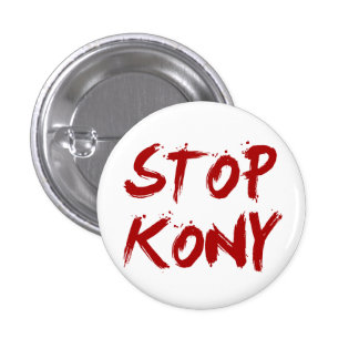 Parada José sangriento rojo Kony de Kony 2012 Pins