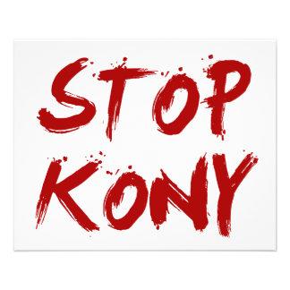 Parada José sangriento rojo Kony de Kony 2012 Folleto 11,4 X 14,2 Cm