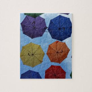 Paraguas coloridos puzzle