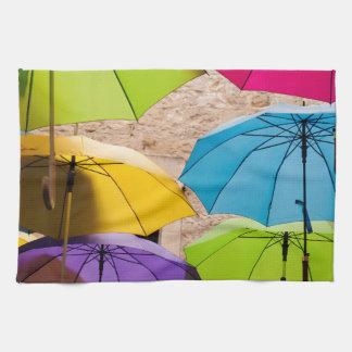 Paraguas coloridos toalla de cocina