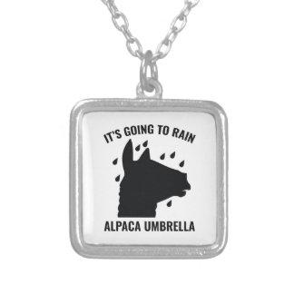 Paraguas de la alpaca collar plateado