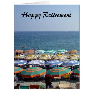paraguas rayados jubilados grandes tarjeta de felicitación grande