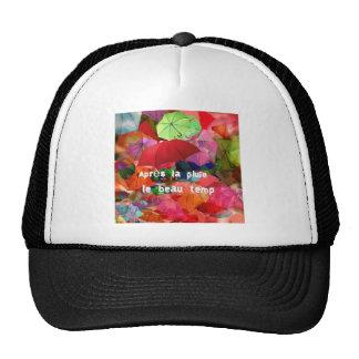 Paraguas y proverbio francés gorra