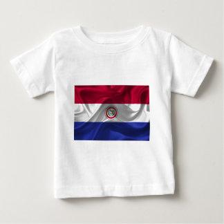 Paraguay-Bandera Camiseta De Bebé