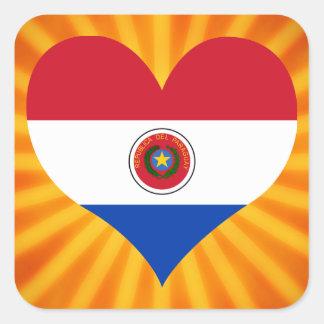Paraguay lindo superventas pegatina cuadrada