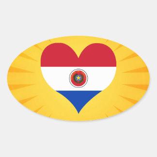 Paraguay lindo superventas pegatina ovalada