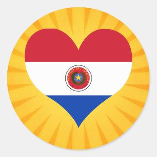 Paraguay lindo superventas pegatina redonda