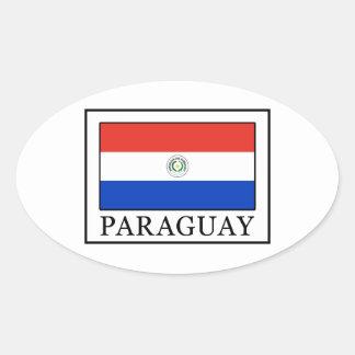 Paraguay Pegatina Ovalada