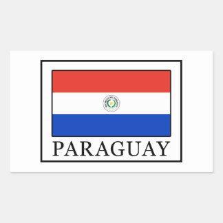 Paraguay Pegatina Rectangular