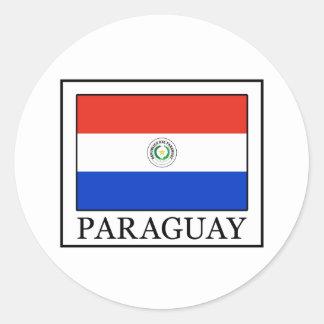 Paraguay Pegatina Redonda