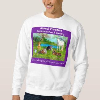 Paraíso animal, sudadera púrpura