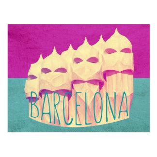 Paraíso de Barcelona Gaudi Postal
