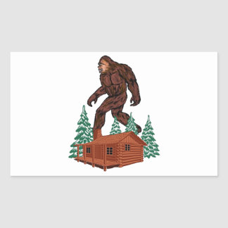 Paraíso de Bigfoot Pegatina Rectangular