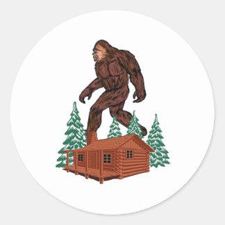 Paraíso de Bigfoot Pegatina Redonda
