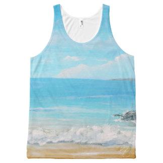 Paraíso de la playa camiseta de tirantes con estampado integral