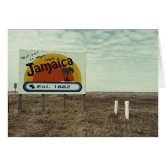 Paraíso divertido de la playa de Jamaica de la Tarjeta De Felicitación