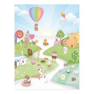 ¡Paraíso dulce del verano! Postal